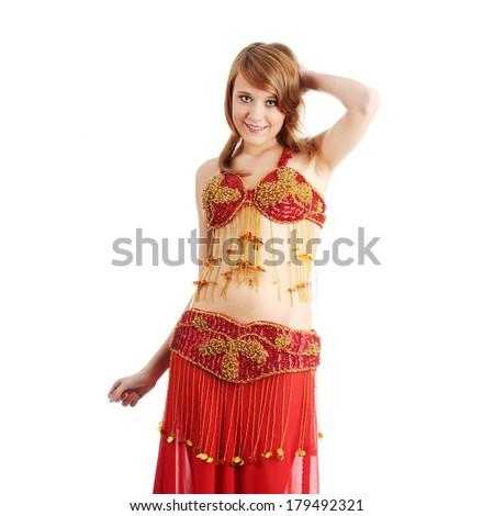 efbc78098 Free photos Teen girl in belly dancer costume dancing