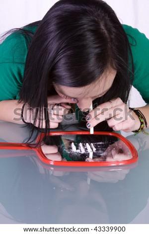 stock photo teen girl taking drugs teenage drug addiction problem cocaine 43339900 magda gay.jpg. Good for her!
