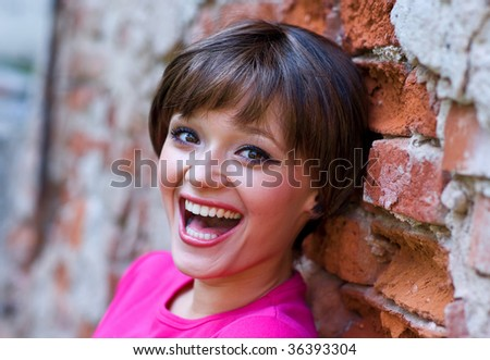 teen girl with happy expression