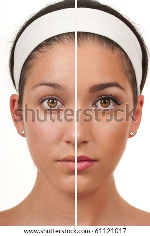 Teen make up - stock photo