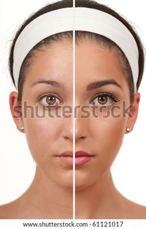Teen make up - stock photo