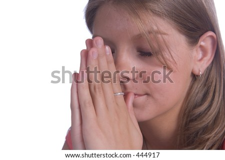 stock photo : Teen prayer. Save to a lightbox ▼. Please Login.