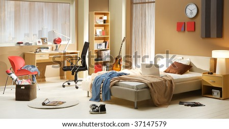 teen's bedroom - stock photo