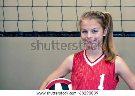 Teen volleyball player displaying can-do, aggressive approach
