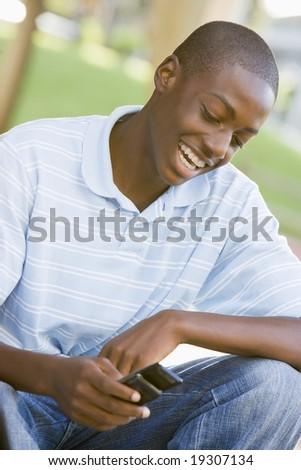 Teenage Boy Texting