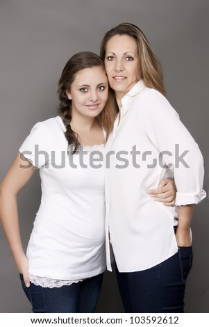Teenage Daughter and Mother together