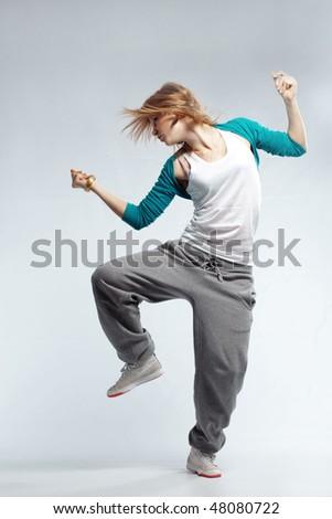 Меган Фокс Stock-photo-teenage-girl-dancing-hip-hop-studio-series-48080722