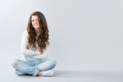 Teenage Girl sitting.
