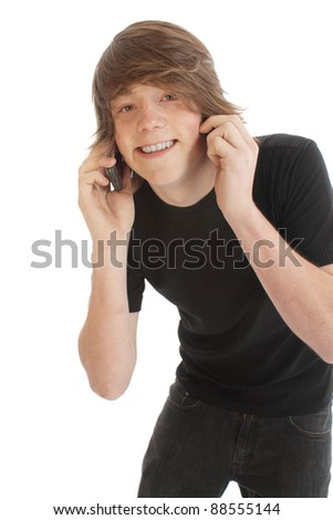 Teenage male youth with cell phone