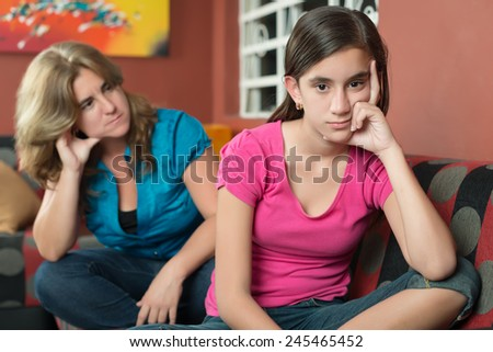 Image result for teenager and parent sad