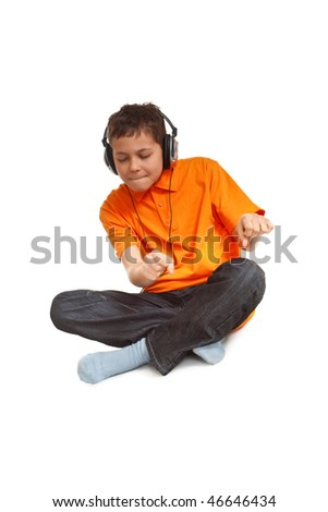 teenager boy enjoy to the music