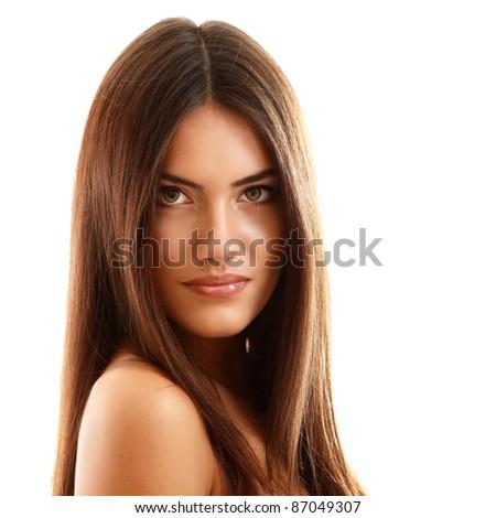teenager girl beautiful cheerful enjoying isolated on white background