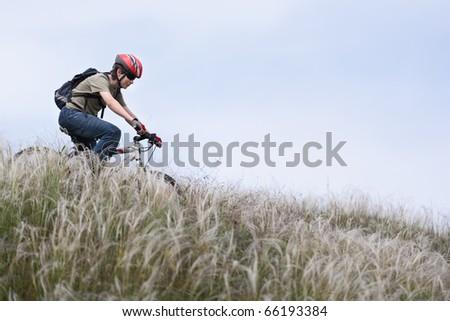 teenager on the mountain bike