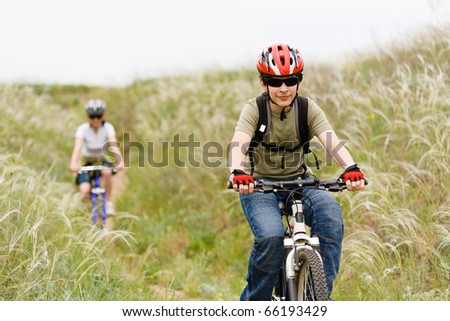 teenager on the mountain bike