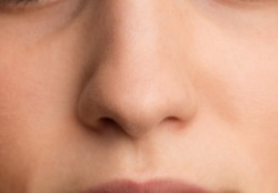 teenager's nose close up
