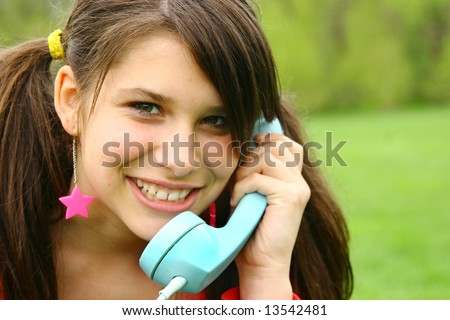 Teenager talking to the phone