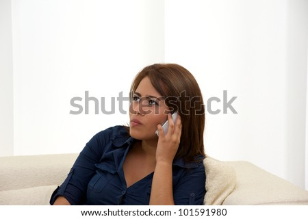 Teenager using cellphone