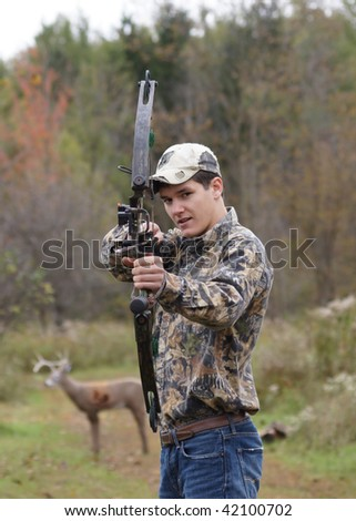 teenager with crossbow