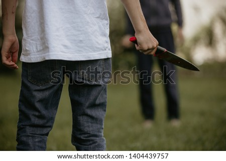 Teenager with knife, prepared to commit crime