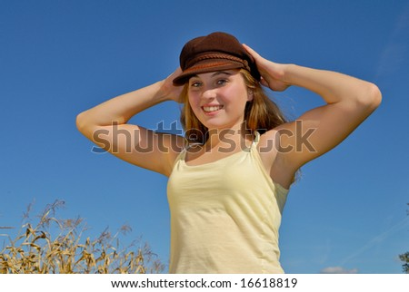 Teenager with Vintage Hat