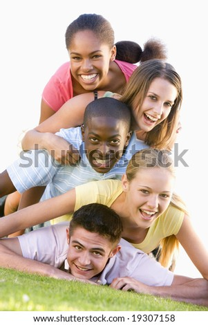 Teenagers Having Fun Outdoors