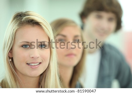 Teenagers smiling