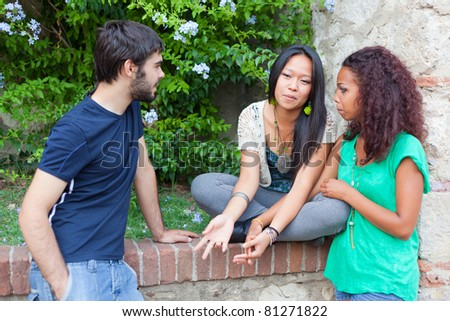 Teenagers Talking at Park