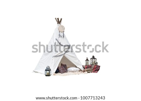 teepee tent on white background....