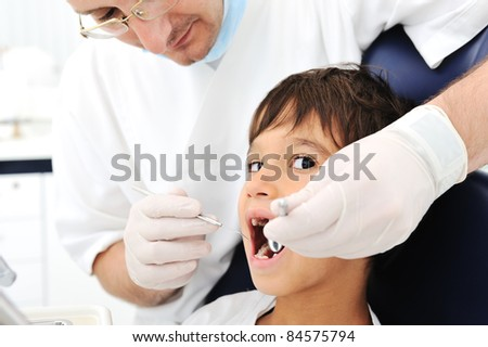 Teeth checkup at dentist's office