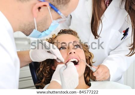Teeth checkup at dentist's office