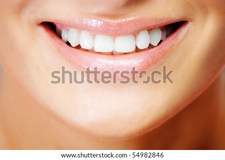 Teeth of a smiling young woman