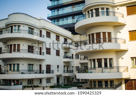 Photo of  tel aviv Bauhaus architecture