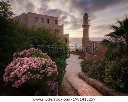 Tel Aviv-Yafo, Al bahar Mosque Stok fotoğraf ©