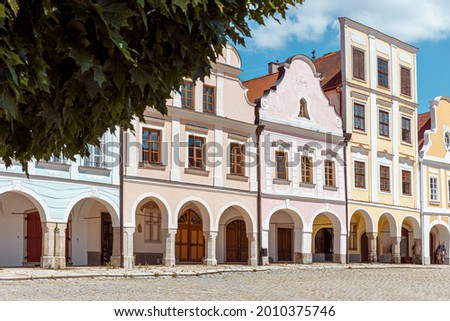 Telc historic square Zachariáš of Hradec, Czech Republic