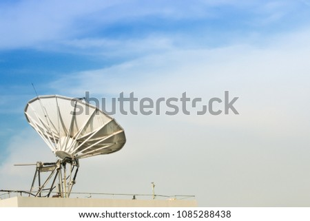 Telecom network with sky and cloud