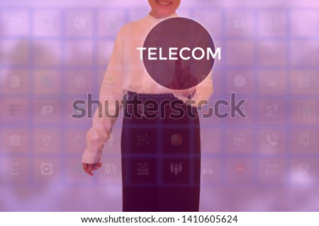 TELECOM - technology and business concept