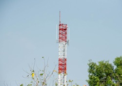 Telecommunicatio tower for mobile phone system