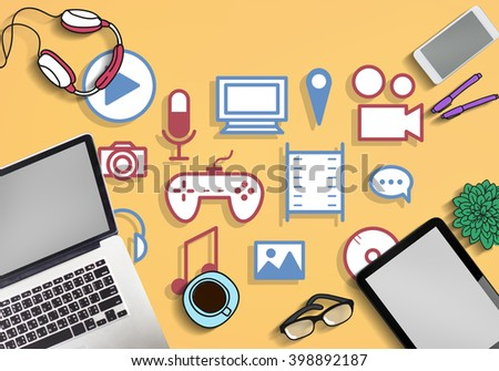 Telecommunication Technology Social Connect Concept - Shutterstock ID 398892187