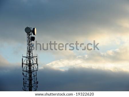 Telecommunications Tower at sunset