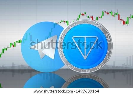 Telegram ton gram; gram cryptocurrency ton blockchain Stok fotoğraf ©