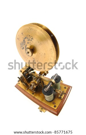telegraph isolated on the white background