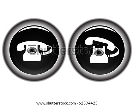 telephone black icons against white background, abstract art illustration; for vector format please visit my gallery - stock photo