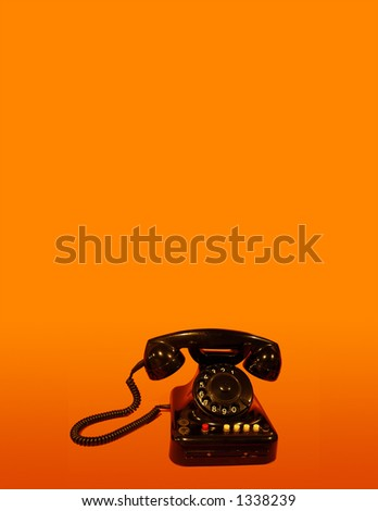 telephone card orange