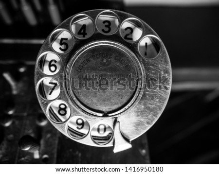 telephone dial of  telephone switchboard #1416950180