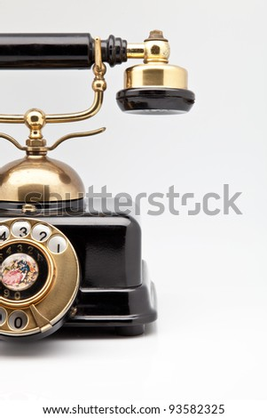Telephone elegant old gold and black