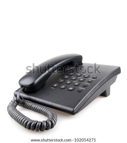 Telephone isolated on white.