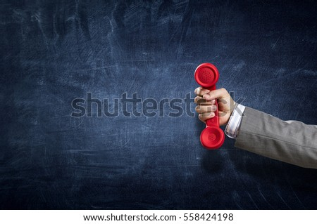 telephone receiver in hand ....