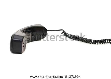 telephone receiver isolated on white background