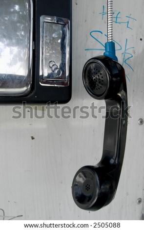 Telephone recieiver hanging