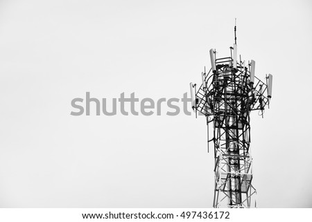 telephone signal station in back and white color